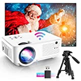 Bomaker wifi mini Beamer,7000 Support 1080P Full HD Heimkino tragbarer Beamer, Max. 300'' Display,...