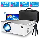 Mini WiFi Beamer, FANGOR Native 1080P Full HD Heimkino Beamer, 5500 Lumen Tragbarer Bluetooth...